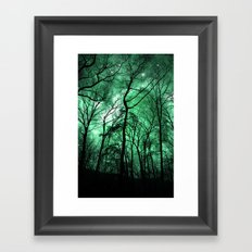 The Trees Reach Out at Night Framed Art Print