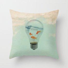 Ideas and Goldfish (RM) Throw Pillow