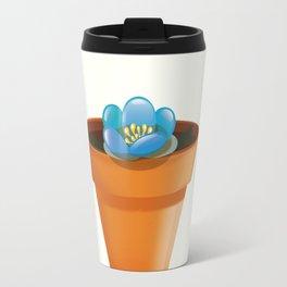 Pretty Blue flower in a pot Travel Mug