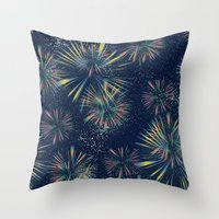 fireworks Throw Pillows featuring Fireworks! by LLL Creations