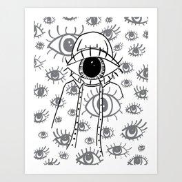 Eye Am Eye Am Eye Am Art Print