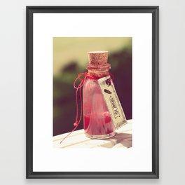 Drink me Framed Art Print