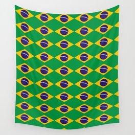 flag of brazil 2-Brazil, flag, flag of brazil, brazilian, bresil, bresilien, Brasil, Rio, Sao Paulo Wall Tapestry