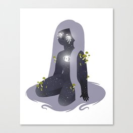 Space Girl 11 Canvas Print