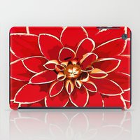 dahlia iPad Cases featuring Dahlia by Saundra Myles