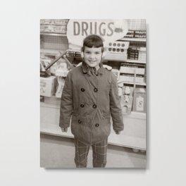 Child In Drugstore Drugs - Vintage Photo Metal Print