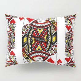 RED QUEEN OF HEARTS PLAYING CARDS ARTWORK Pillow Sham