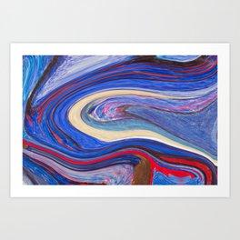 liquify 8 Art Print
