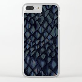 Dragon Scales - grey Clear iPhone Case