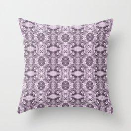 Gray Royal Floral Throw Pillow