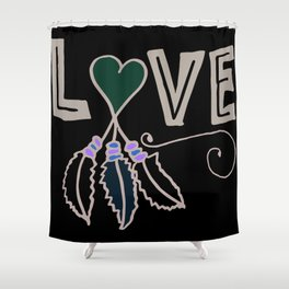 Bohemian Love Shower Curtain