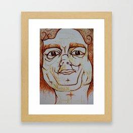 Visage 18 Framed Art Print