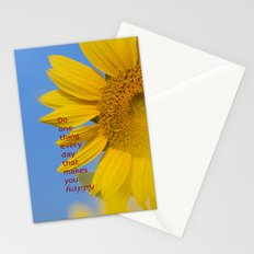 Be happy. Stationery Cards
