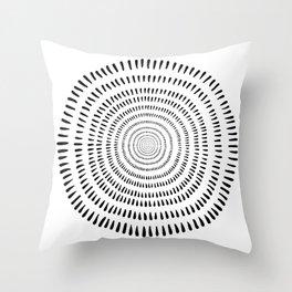 Fjorn on white Throw Pillow