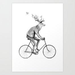 Even a Gentleman Rides Art Print
