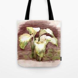 Green Goddess Calla Lilies Tote Bag
