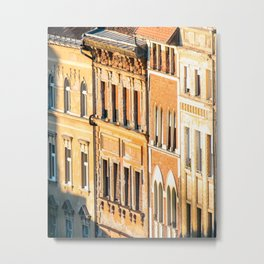 Building Facades in Budapest Metal Print