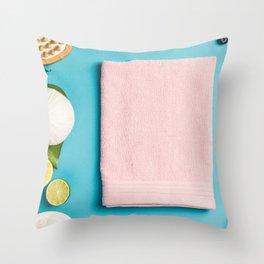 spa settings Throw Pillow