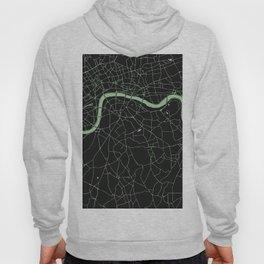 London Black on Green Street Map Hoody