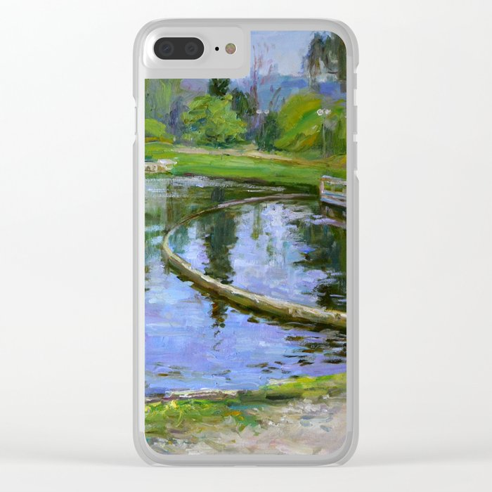 Morning park Clear iPhone Case