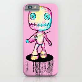 Crazy Voodoo Doll With A Pin iPhone Case