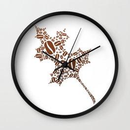 Coffee Bean Leaf Wall Clock