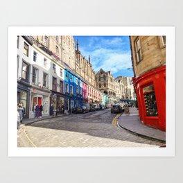 Edinburgh Grassmarket Art Print