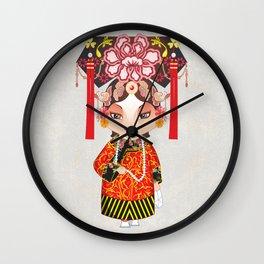 Beijing Opera Character TieJing Princess Wall Clock