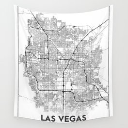 Minimal City Maps - Map Of Las Vegas, Nevada, United States Wall Tapestry