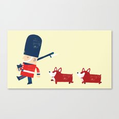 Her Majesty's guards Canvas Print