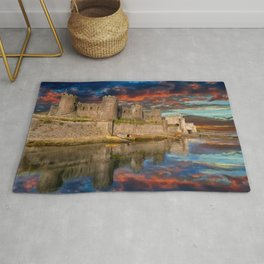 Conwy Castle Sunset Rug