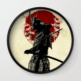 samurai redmoon Wall Clock
