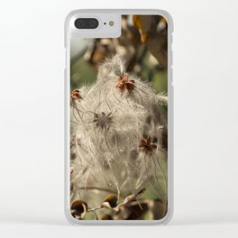 Bushes with starseeds surrounded with white aura Clear iPhone Case