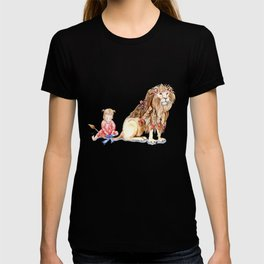 Girl with Her Lion T-shirt