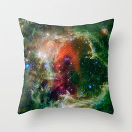Soul Nebula located in Cassiopeia Deep Space Telescopic Photograph Throw Pillow
