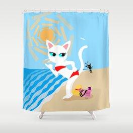BEACH! Shower Curtain