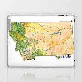 Montana Painted Map Laptop & iPad Skin