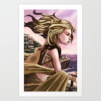 Meeka overlooking Sea Sky Art Print