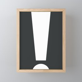 Exclamation (White on Black) Framed Mini Art Print