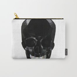 Skull Black Low Poly Carry-All Pouch