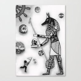 Anubis and Destiny's Child Canvas Print