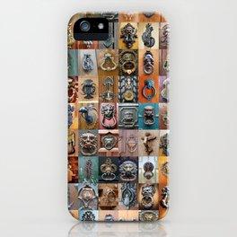 Door Knockers Montage iPhone Case