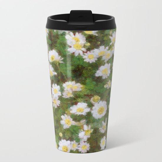 Daisies In Spring Metal Travel Mug