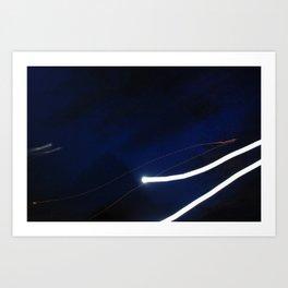 Long exposure supermoon Art Print