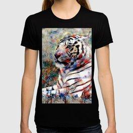 vibrant tiger T-shirt