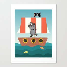 Pirate Hedgehog Canvas Print