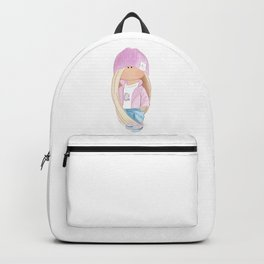 Doll in a pink hat Backpack