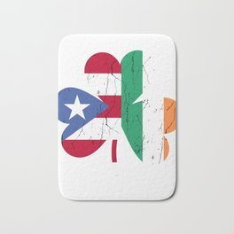 Ireland Irish Puerto Rican St Patrick's Day design Bath Mat