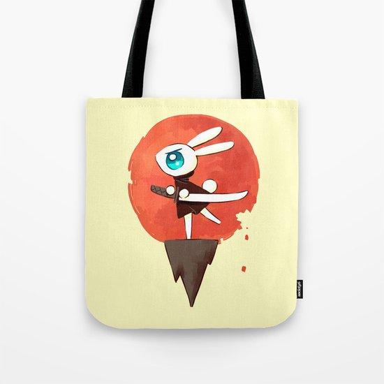 Samurai Bunny Tote Bag