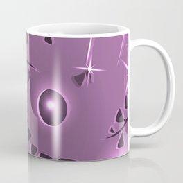 Pattern gently pink plant elements light purple luminous ethnic style. Coffee Mug
